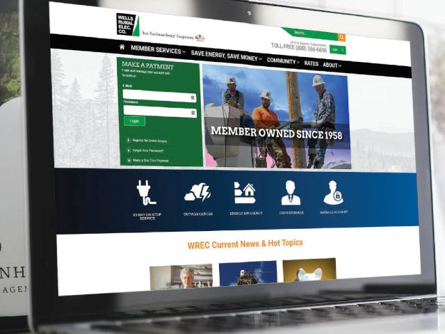 New website design for Wells Rural Electric Company