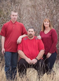 Myron with his son, Dennis, and his wife, JoLynn.
