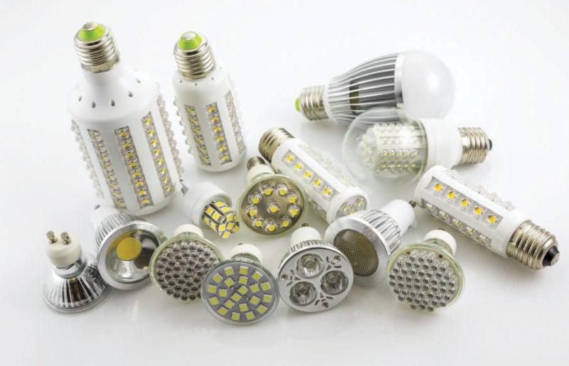 variety of LED bulbs