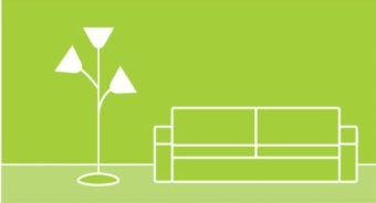 couch with lamp illustration