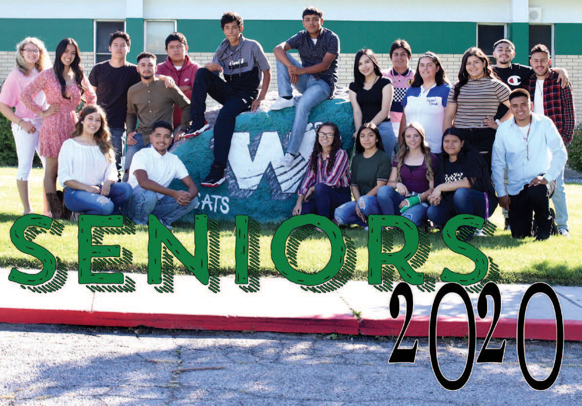 Seniors 2020. Group of students outside in a group