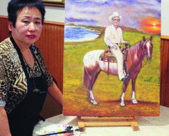 Chin's Café owner and artist Li Ju Chin