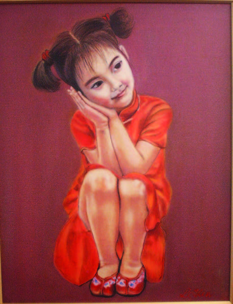 Portrait of a Chinese child.