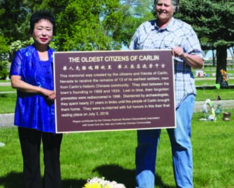 Li Ju Chin and City Council member Margaret Johnston