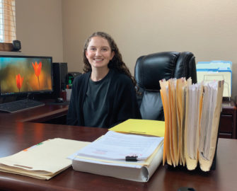 Carlin City Manager Madison Mahon in her office.