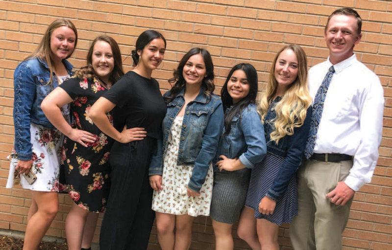 Hannah Holm, Jade Kelly, Vanessa Torres, Itzel Correa, Rossy Villanueva, Aubree Talbert and Logan Ballard