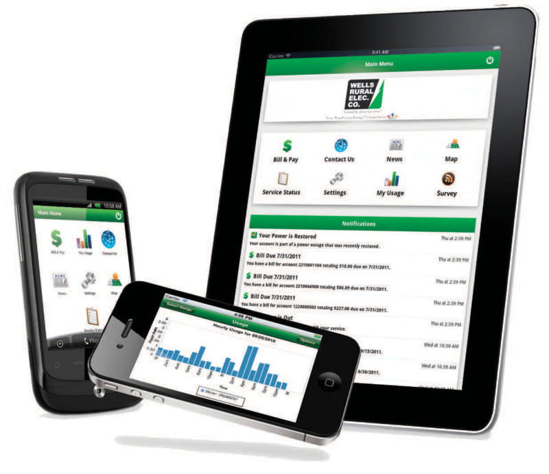 mobile phones and tablets displaying the SmartHub app
