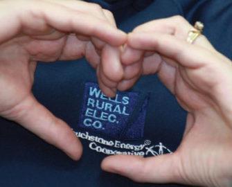 Hands making a heart.