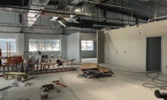 Some of WREC's partially constructed office space.